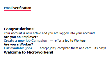 microworkers signup