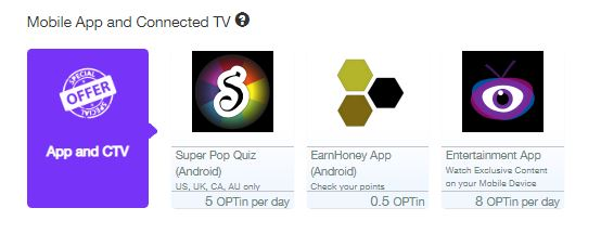 Earnhoney apps and tv